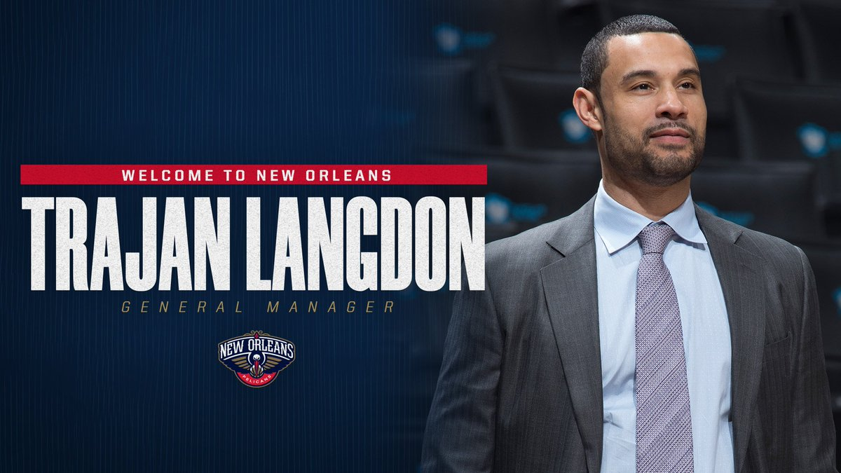 The #Pelicans have hired Trajan Langdon as the team's General Manager, it was announced today by Pelicans Executive Vice President of Basketball Operations David Griffin  More Info: https://www.nba.com/pelicans/news/pelicans-hire-trajan-langdon-general-manager…  #BirdStrikes