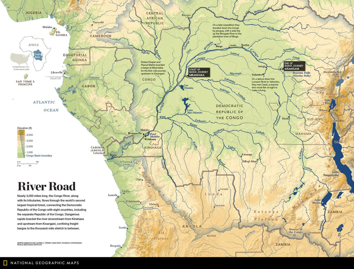 Map Of Africa Congo River.Natgeomaps On Twitter Map Of The Day This Map From October 2015