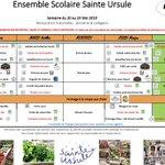 Image for the Tweet beginning: Info cuisine Sainte Ursule👨🍳: menu