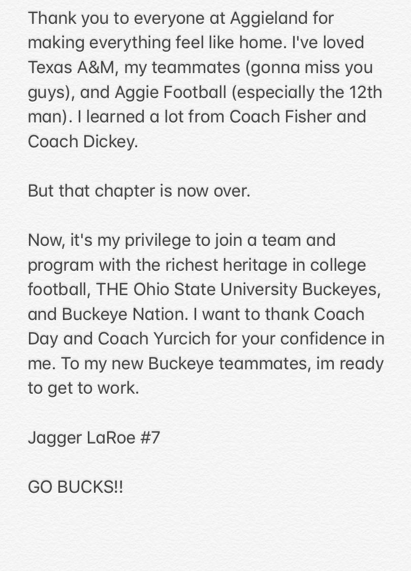 Ohio State Has Landed Another Transfer Quarterback