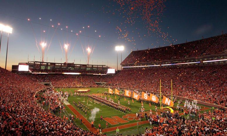 Best Stadium in College Football📍  Round 2 - Poll in comments⬇️  RT - Memorial Stadium, Clemson LIKE - OU Memorial Stadium, Oklahoma