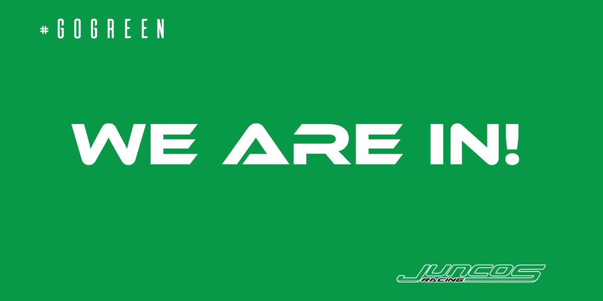 WE ARE IN!! WE DID IT!!   #ThisIsMay #Indy500 #GoGreen 💪🏼