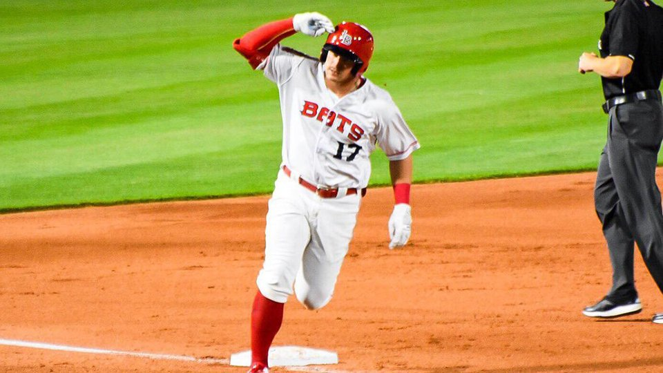 #Reds prospect Brian O'Grady entered Sunday with six homers this year and left with 50 percent more after belting a trio of dingers for @LouisvilleBats.  https://atmlb.com/2HpR4ku