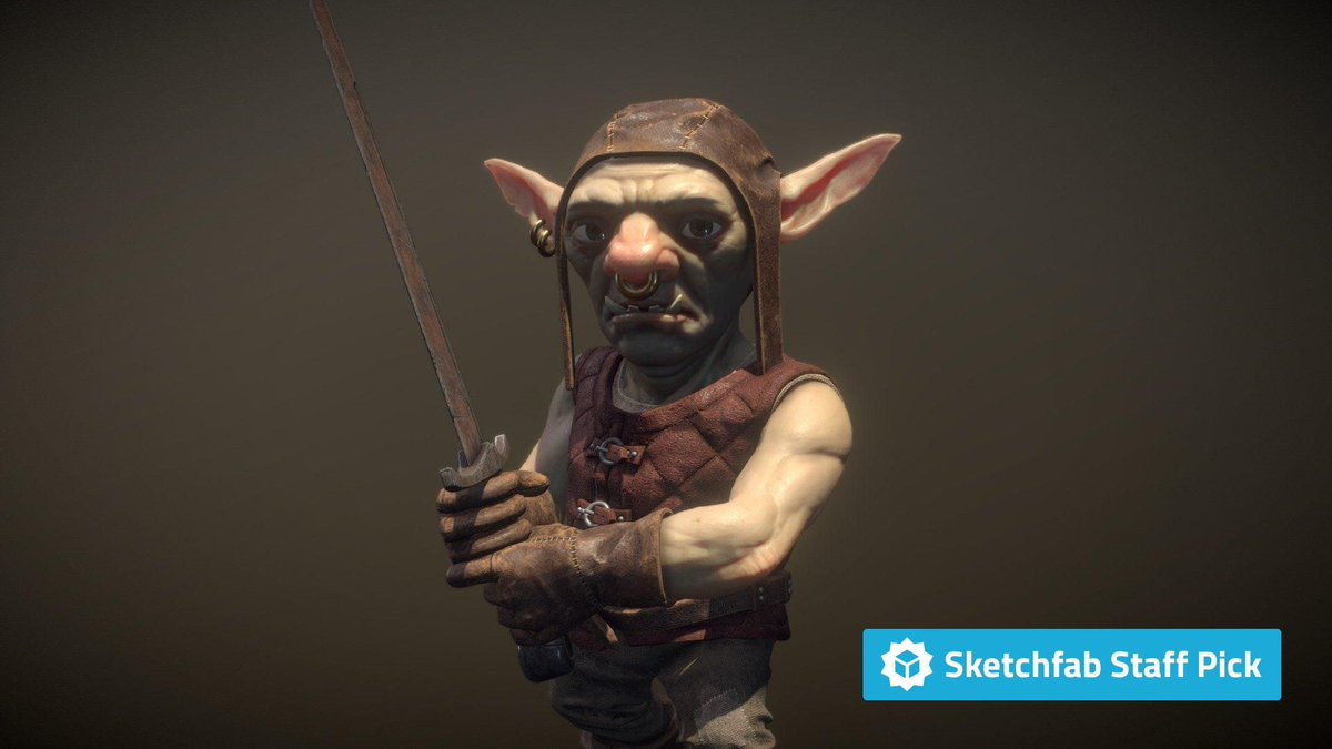 New staff pick: Borin of Bogwrath by jackgood16. Check it out in #3D, #AR or #VR: bit.ly/2WRpPEB #MadeWithSubstance