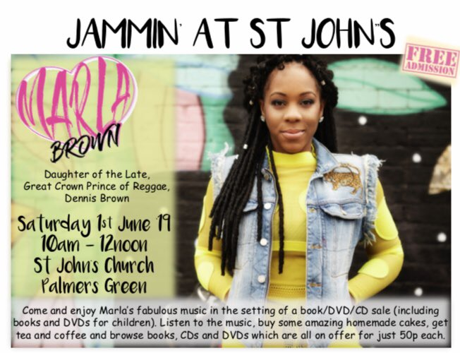 poster or flyer advertising event Jammin\' at St John\'s: Marla Brown