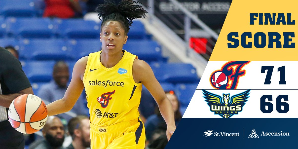 FINAL: #Fever 71, Wings 66  - @Kelz_Hoop finished with 2⃣6️⃣ points  #Fever20 | #AllForLove