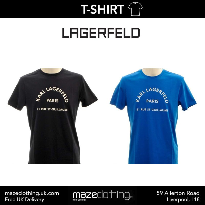 Lagerfeld Royal or Navy T-Shirt at Maze Clothing!  Shop Now (free UK delivery!) - https://bit.ly/2Fn4Wdc  #Lagerfeld #MensClothing #LiverpoolFashion