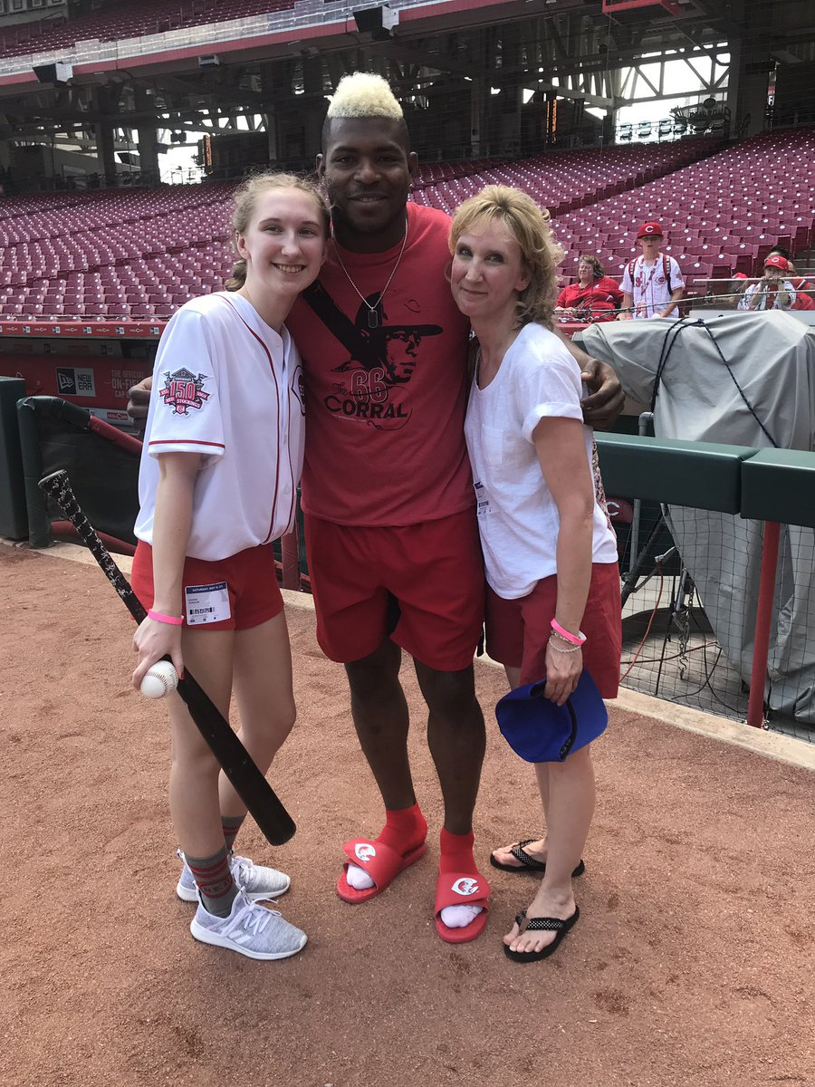 Thank you to Maddie and her mother who came all the way from Buffalo! I am inspired by you strength and wish you many good days ahead #puigyourfriend #fans #love #cincinnati #reds