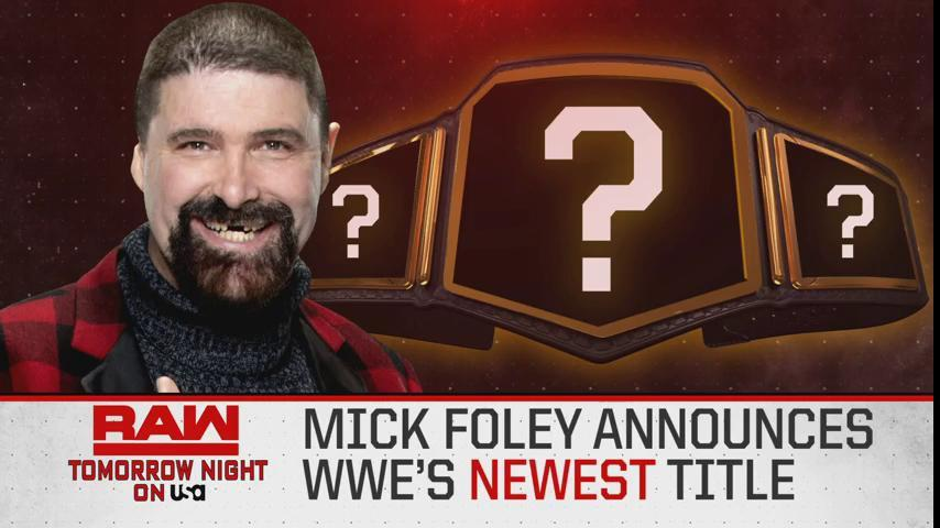 TOMORROW NIGHT: @RealMickFoley will announce the @WWEs NEWEST championship LIVE on Monday Night #RAW! #MITB