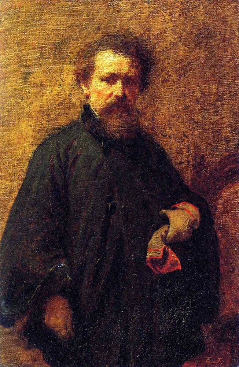 Self Portrait, 1863 #eastmanjohnson #johnson <br>http://pic.twitter.com/l1T6EBAKRS