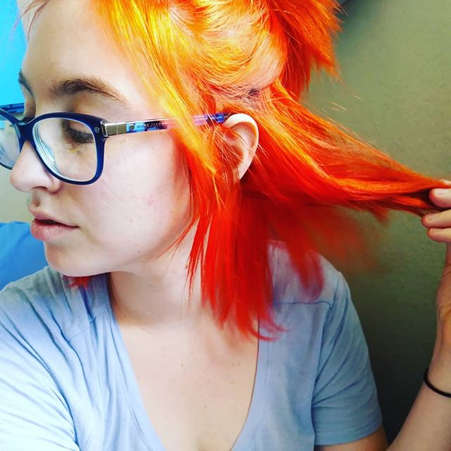 test Twitter Media - Y'all @arcticfoxcolor #sunsetorange is the absolute best! I've used a LOT of hair dye before but this dye is totally worth the money, gentle on hair, SO freaking vibrant, and they donate 15% of their earnings to animal charity. Fuckin' rad! #hairandbeauty #haircare #alternative https://t.co/cMDPwEKz91