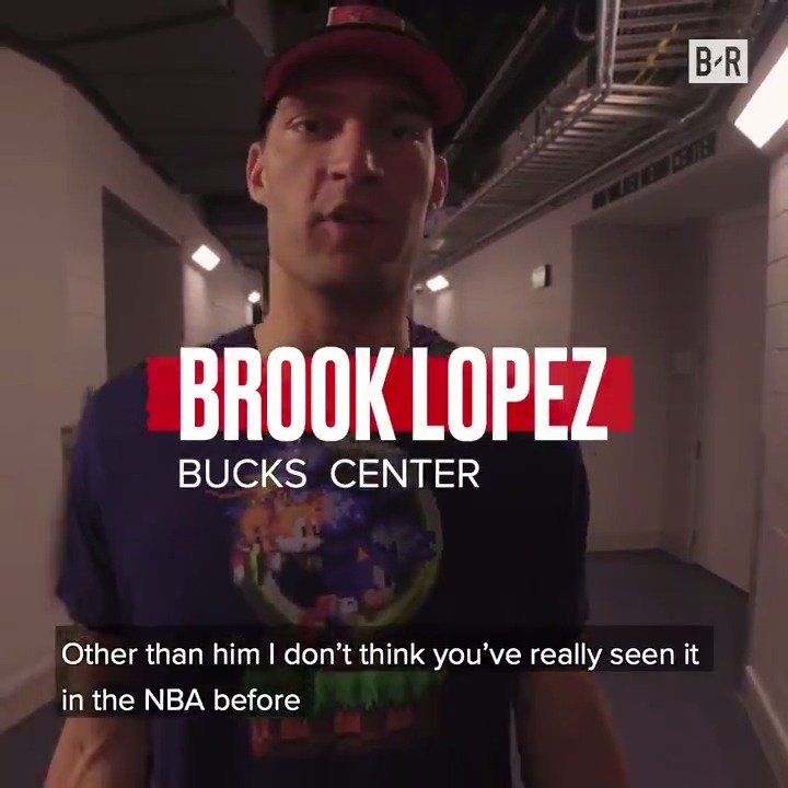"""""""I don't think you've really seen it before in the NBA;"""" Brook Lopez dishes on Giannis' jaw-dropping plays as Bucks take 2-0 lead From B/R x @WellsFargo"""