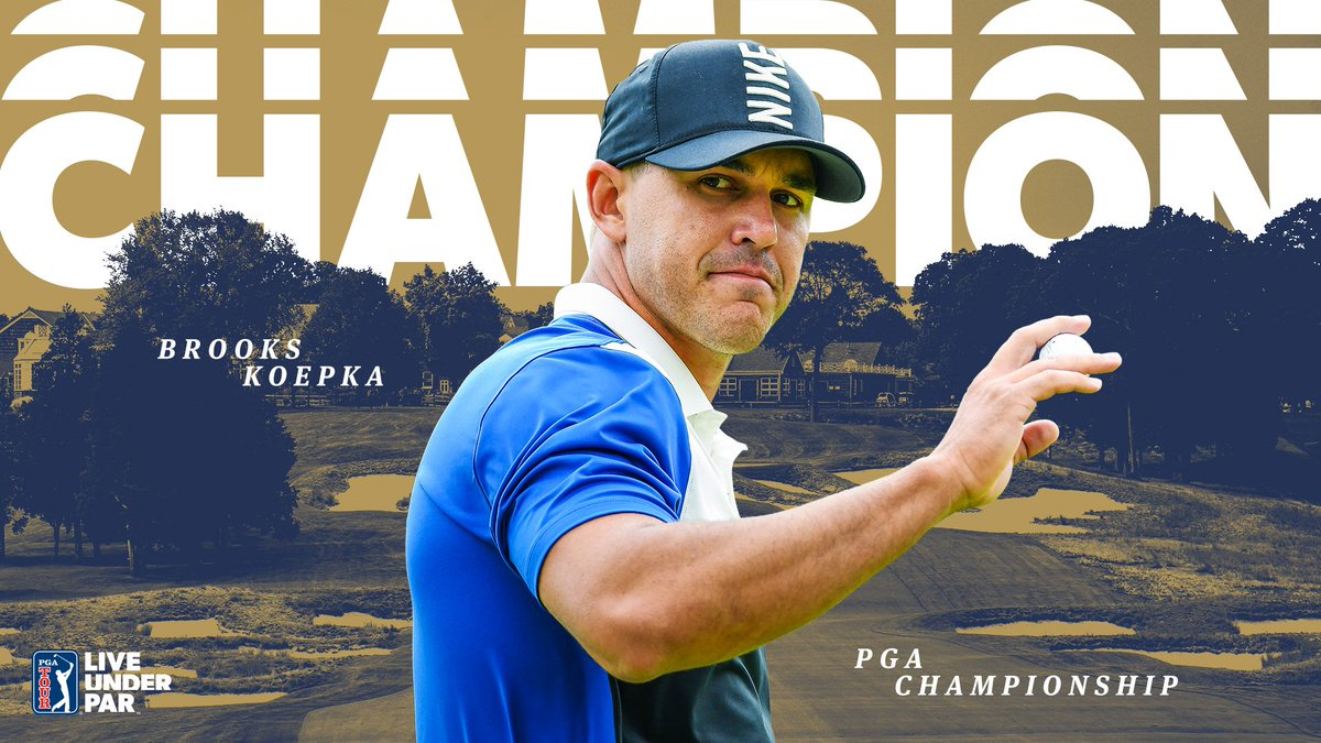 🏆 @BKoepka has won the PGA Championship! Again. Its his 4th major victory in 8 starts. #LiveUnderPar