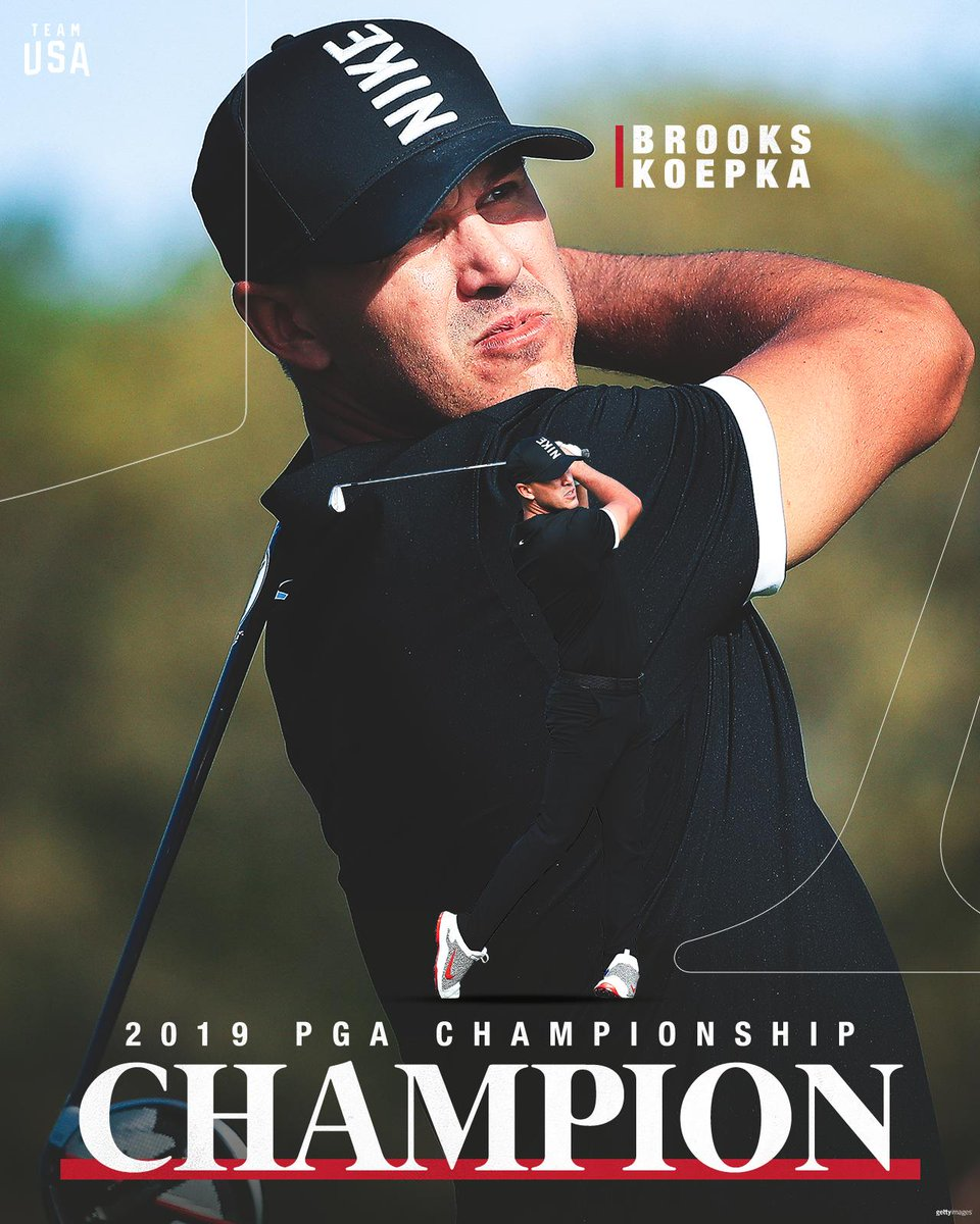 Dom·i·nant.  A historic win for @BKoepka, who becomes the back-to-back #PGAChamp!