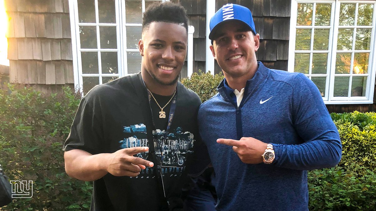 who @saquon bumped into at the #PGAChamp this weekend - 2019 champion, @BKoepka! <br>http://pic.twitter.com/IIXXFt59Bz