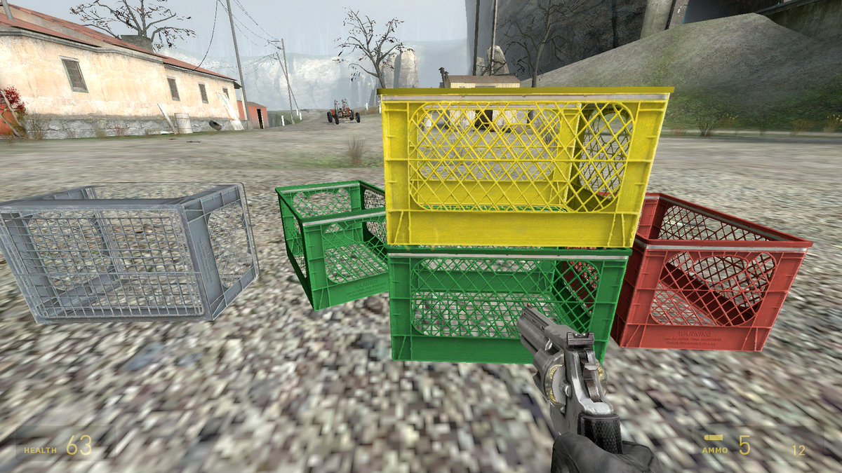 Half-Life 2 crates are an aesthetic.