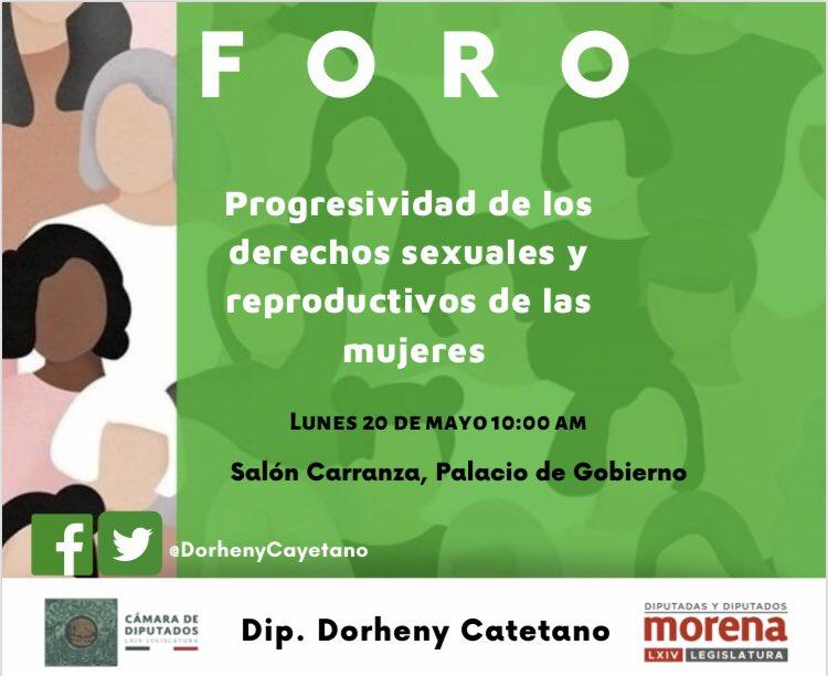 """La diputada @DorhenyCayetano convoca el día de mañana al Foro """"Progresividad de los derechos sexuales y reproductivos de las mujeres"""" ¡No falten!"""