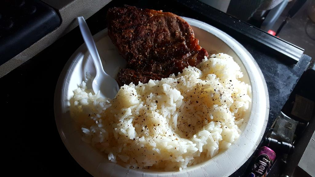 Dinner in the truck tonight is steak and rice! See ya 3am for the ride across Snoqualmie Pass!
