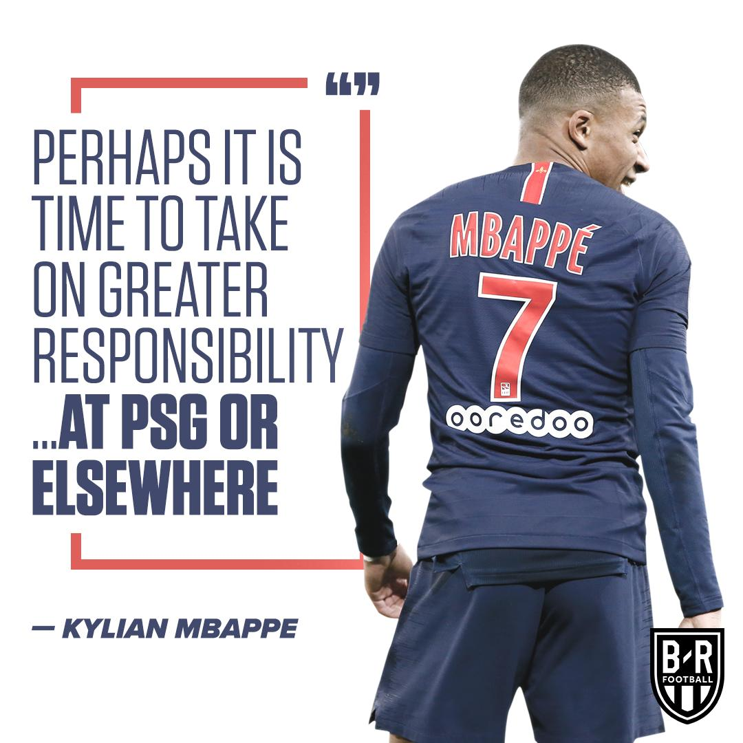 Mbappé is ready for a bigger role, wherever it may be 👀  (via @brfootball)
