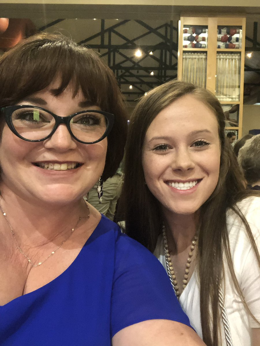 Some how I made such an impact on this sweet girl way back in kinder that she chose me to honor tonight at #celebrationofstars for #Robinsonisd @ElemRob #risdres Thank you to @robinson_ef for supporting this event!