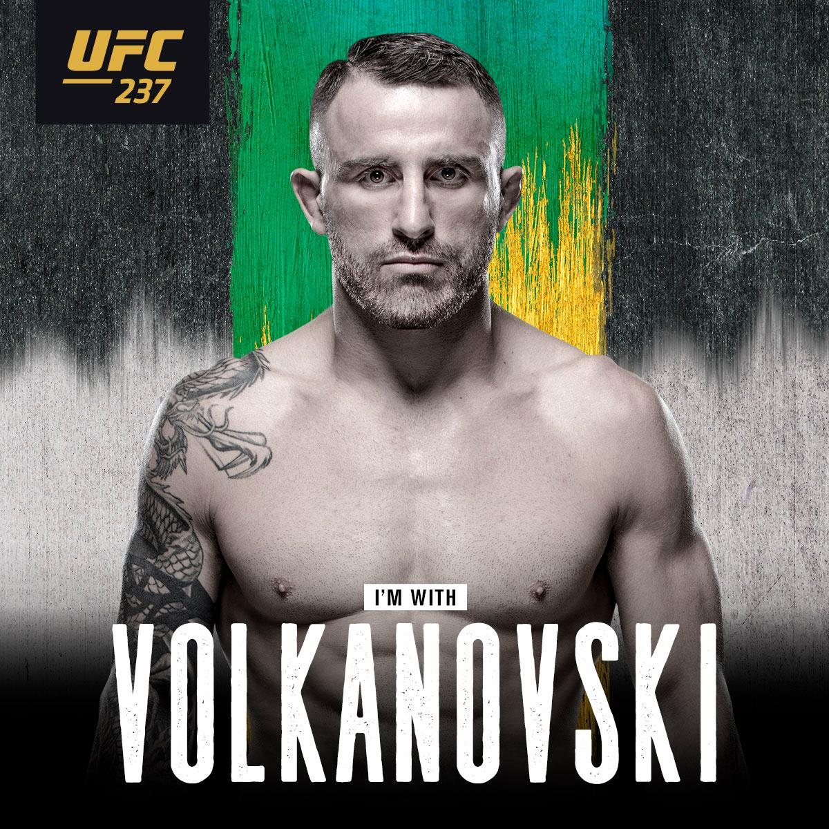 I'm with @AlexVolkanovski  #UFC237 this Sunday on Pay-Per-View