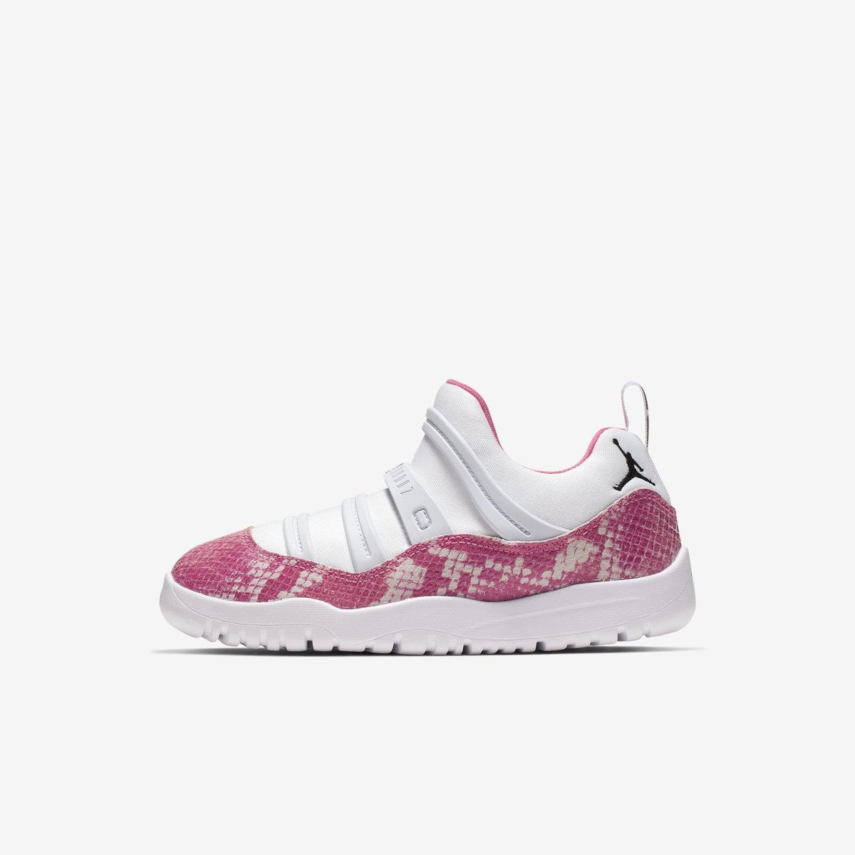 "a48c223c508 Kids ""Pink Snakeskin"" Jordan 11 Little Flex on Finish Line with FREE  shipping Preschool -> https://go.j23app.com/bqi Toddler ->  https://go.j23app.com/bpq ..."