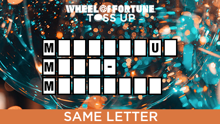 Same Letter Wheel Of Fortune.Wheel Of Fortune On Twitter This Toss Up Seeks The Same Letter