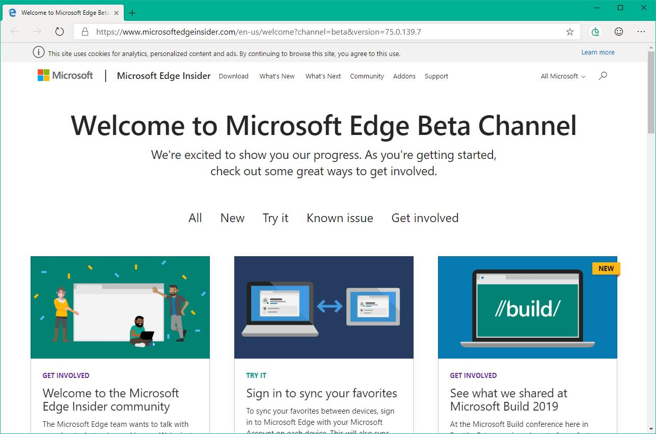 The Chromium-based Microsoft Edge Beta leaked, and you can