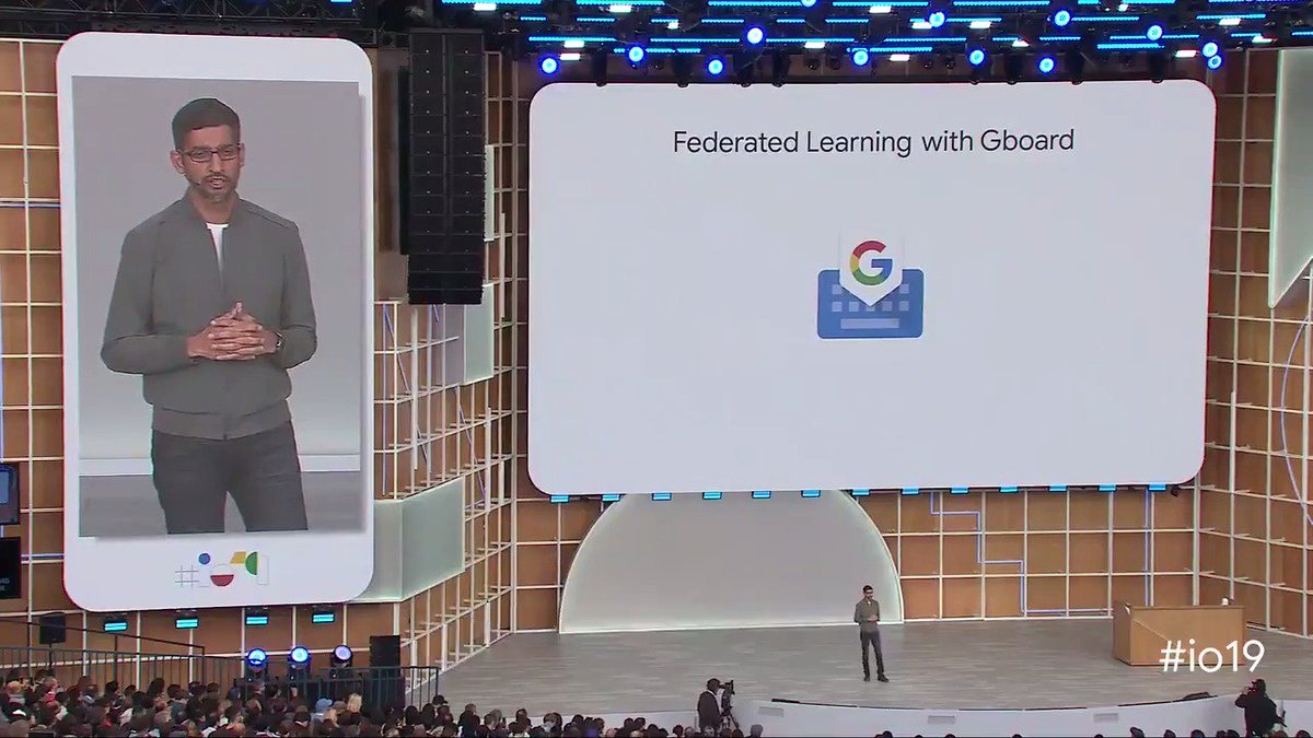 With federated learning, a new approach to machine learning invented by Google, products like #Gboard get better, faster—without collecting data from your device. g.co/federated #io19