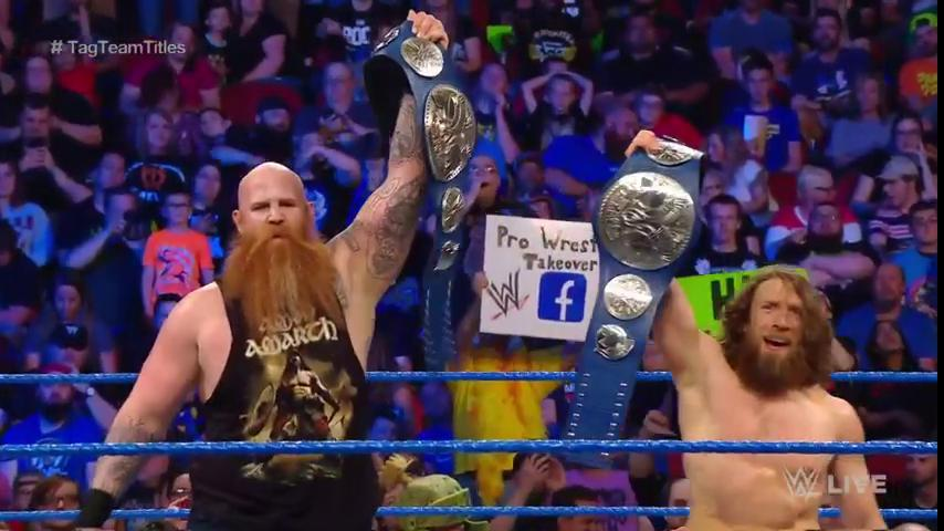 Daniel Bryan And Rowan Defeat The Usos To Win The Vacant WWE SmackDown Tag Team Titles