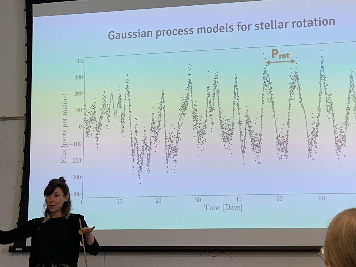 Awesome talk at @UCBerkeley by @ruthangus about inferring stellar ages with time series analyses (Gaussian Processes, Deep Learning and all).
