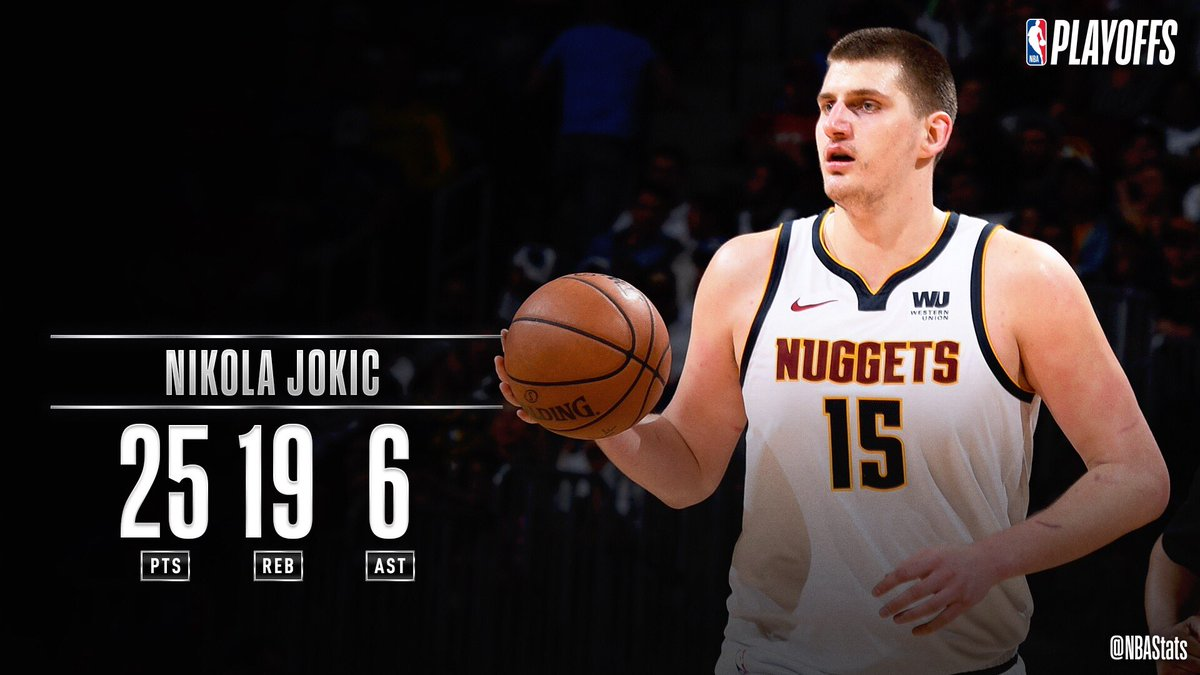 Nikola Jokic records 25 PTS, 19 REB & 6 AST in the @nuggets' Game 5 W! #MileHighBasketball #SAPStatLineOfTheNight