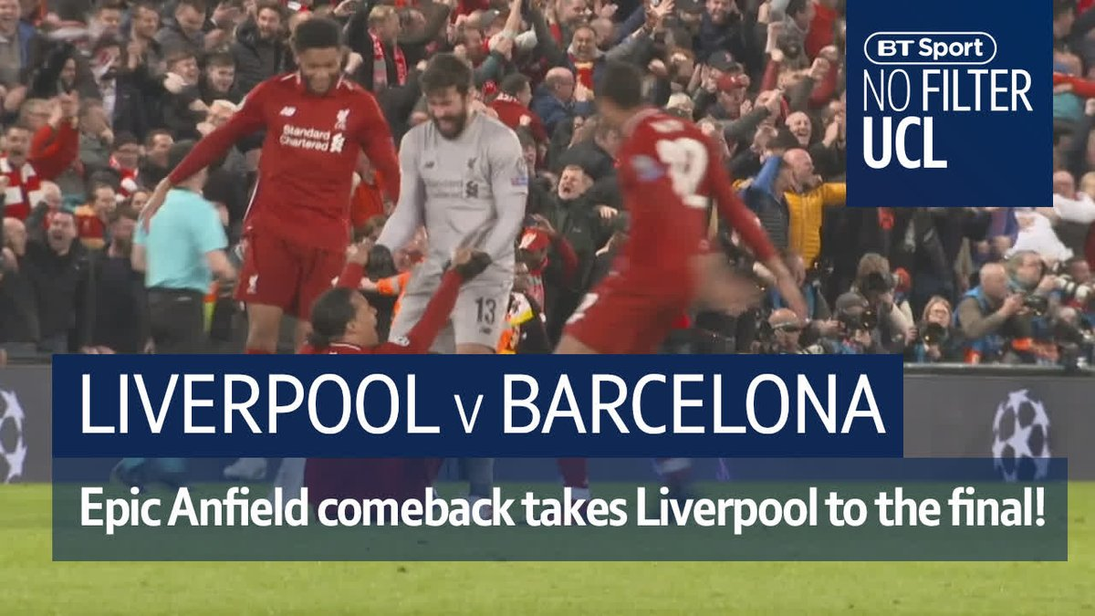 🔥 Atmosphere 🤯 Emotion 💪 Never say die  Relive one of the greatest comebacks in Champions League history with #NoFilterUCL.  Strap in Liverpool fans.  ❤️