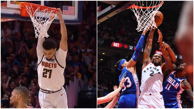 【影片】今日五佳球:Murray自搶籃板霸氣補扣,可愛無懼防守單臂劈扣!