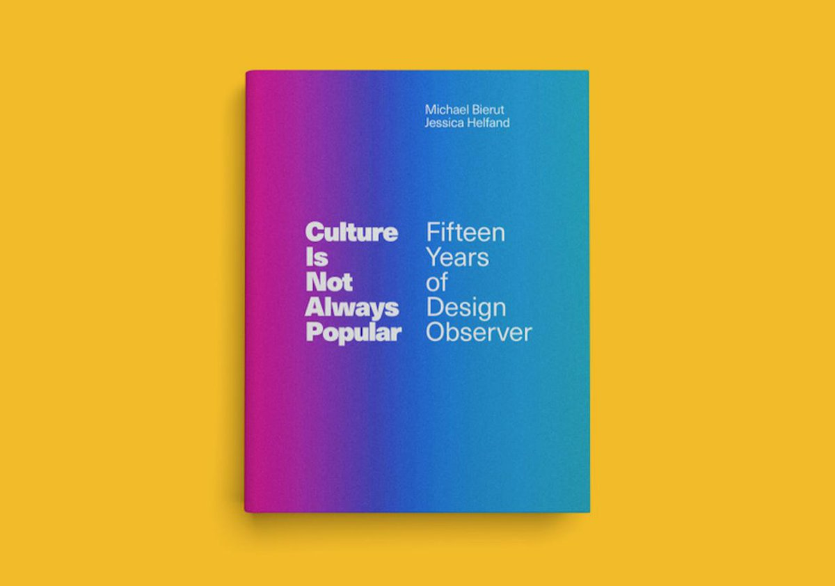 Hello, London! Join @jessicahelfand, @AJWShaughnessy, @AliceTwemlow, Rick Poynor & me next Tuesday at @tatemodernshop for a discussion of design, writing, criticism & publishing, celebrating 15 years of @DesignObserver with @mitpress tate.org.uk/whats-on/tate-…