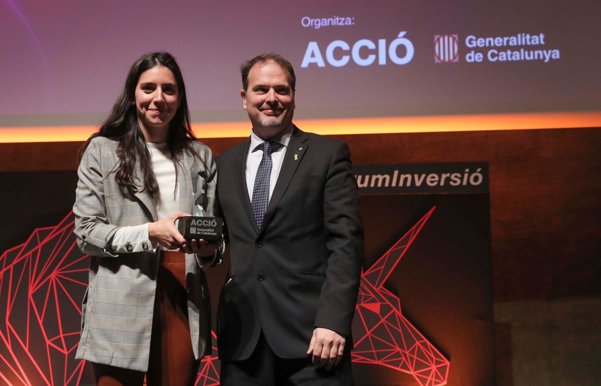 The Catalan startup @VEnvirotech wins the Investment Forum Award #FòrumInversió for their international growth potential. Congratulations!👏🏼