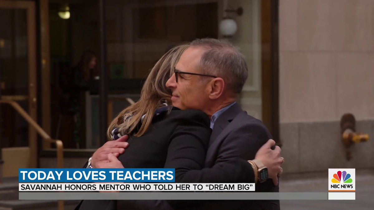 """""""Think big."""" @savannahguthrie is celebrating a teacher, who ended up becoming a true friend, mentor and so much more to her. #TeacherAppreciationWeek"""
