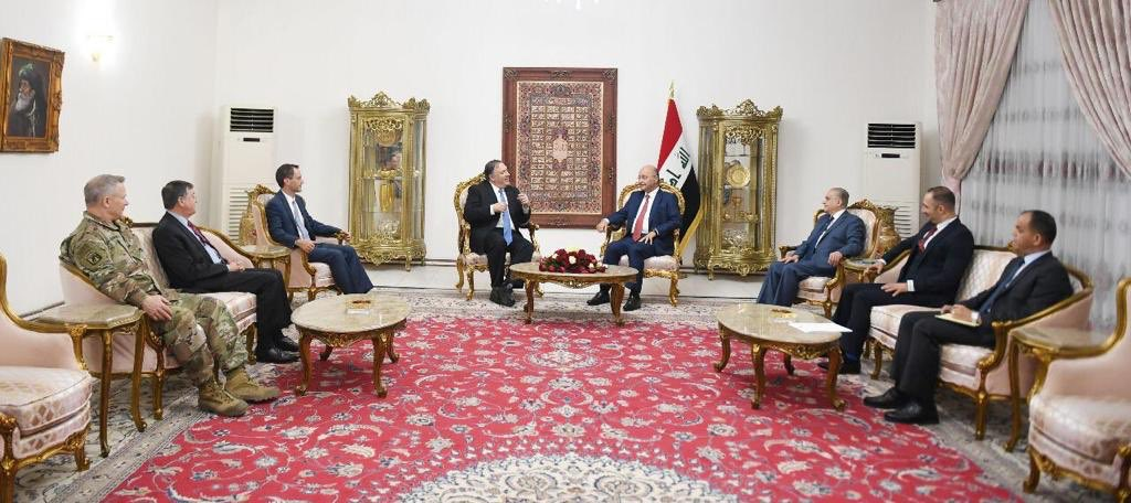 Hosted @SecPompeo; substantive conversation about Iraq-US strategic partnership, consolidating victory against ISIS through economic regeneration, regional cooperation. Iraq's national interest requires promoting relations with all our neighbors, not becoming zone for conflict