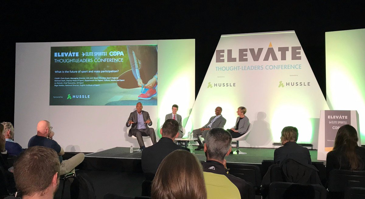 We're learning about the future of sport at #elevate19 today, and meeting lots of active people!