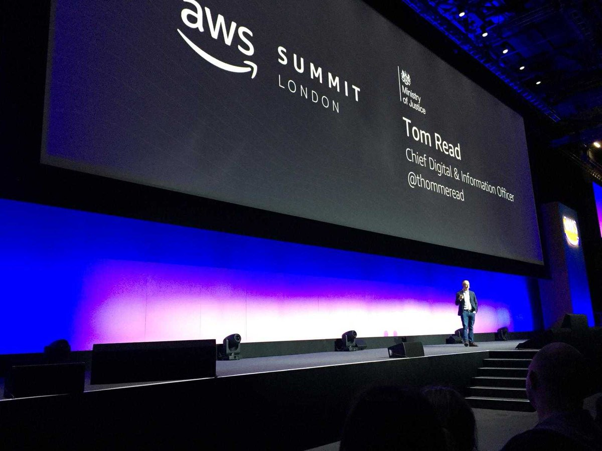 Our CIO @thommeread talking at today's #AWSSUmmit about how we have moved some of our most important legal aid services to the cloud 👏👏