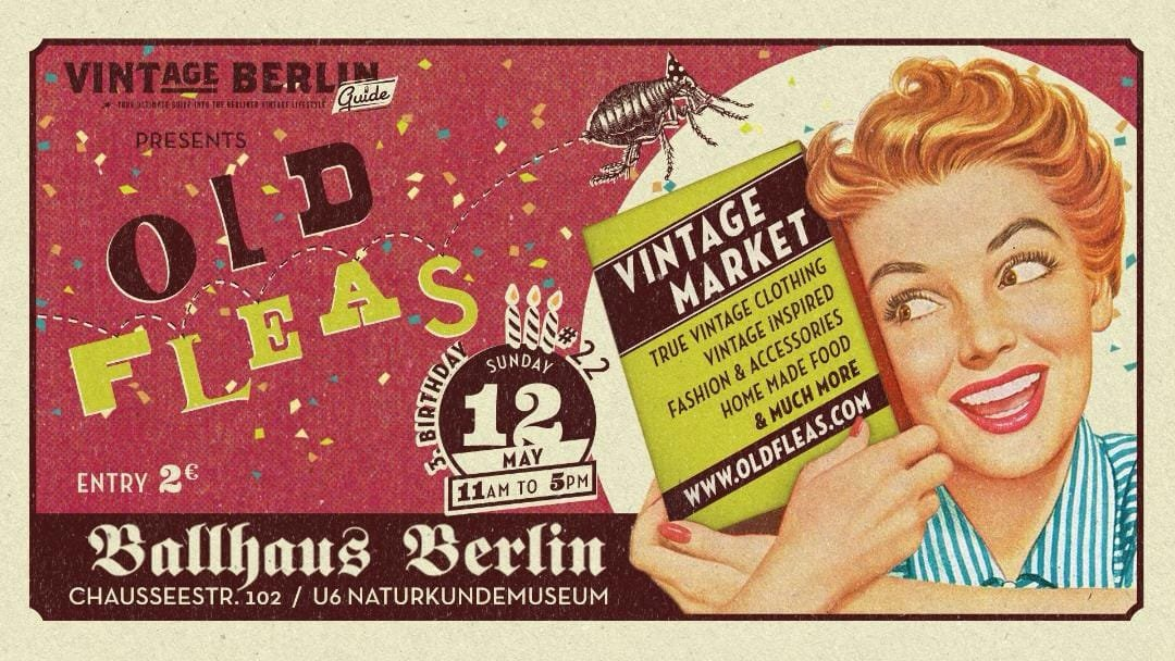 """""""Old Fleas Vintage Market"""" is back this Sunday, 12 March at 11am. Details in event link below:  https://www.facebook.com/events/818231458529453/…  #ballhausberlin #vintagemarket #vintageberlin #visit_berlin #berlinpic.twitter.com/44TryCxoSE"""