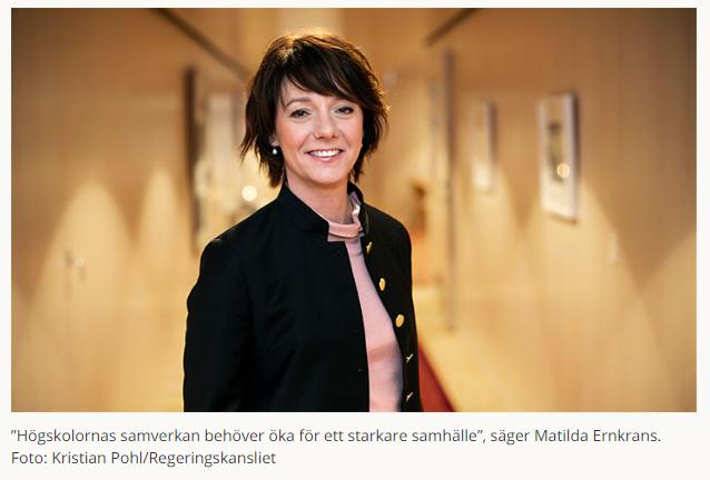 Idag startar #hss2019 i Örebro, @ernkrans  vill se ökad samverkan mellan högskolor och samhället. https://www.oru.se/nyheter/nu-startar-hss/…