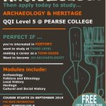 Image for the Tweet beginning: Pearse College's Archaeology and Heritage