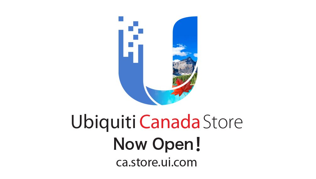 We're excited to announce that the Ubiquiti Canada Store is now open