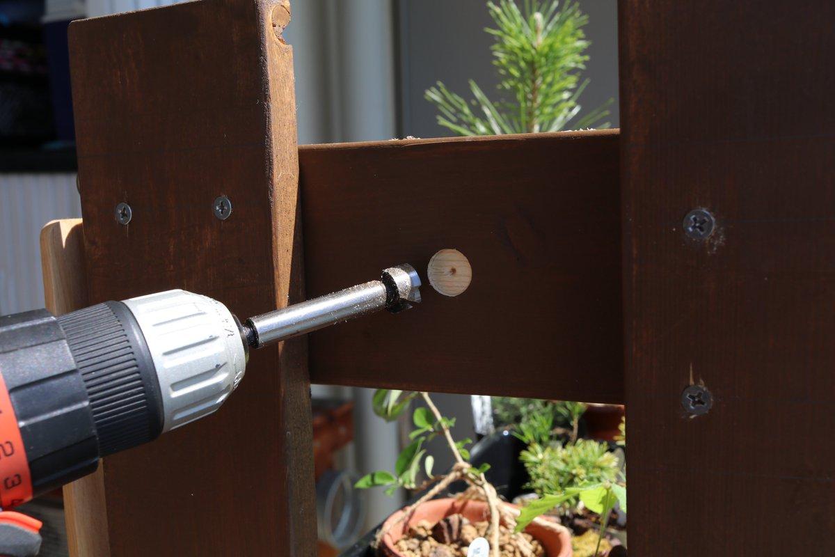 test ツイッターメディア - 盆栽棚をアレンジしました。 室外機カバーにもたくさん取り付けました。 #盆栽棚 #ダイソー #強力マグネット #DIY https://t.co/18ot9WkbCb