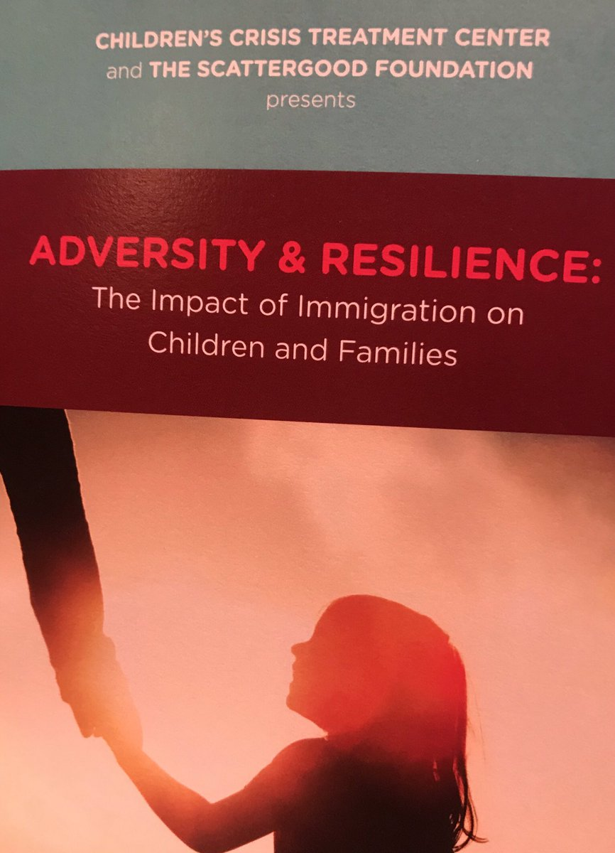 Proud to be sponsoring such an important event today @whyy delivered by @CCTCkids promoting #resilience for #immigrant children and families