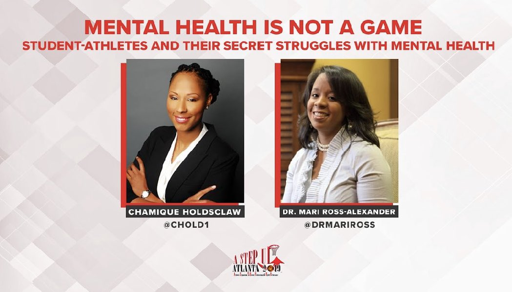 Happening Now: 😱  It's #MentalHealthAwarenessMonth & our #AStepUp2019 coaches are becoming better coaches by learning how to make their players and THEMSELVES better. Wow.  This insight is a game changer!  @Chold1 & @DrMariRoss 🧠🏀  Thank you!