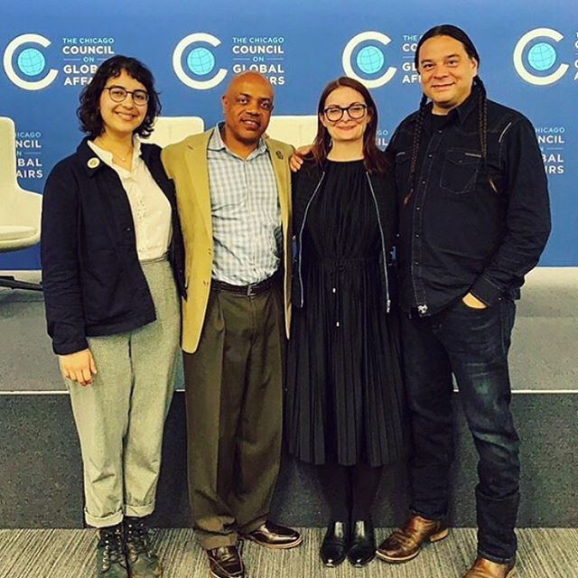 """Last night's panel at @thechicagocouncil & @beardfoundation Leadership Awards panel provided many insights and calls to action about how to raise all of us through food. Said @the_sioux_chef """"Plant food everywhere. Lawns are stupid."""" Said @federation1967… bit.ly/2VeLLIs"""