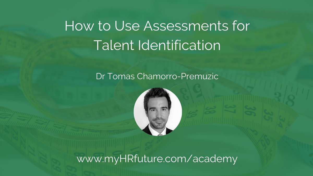"In our newest course ""How to Use Assessments for Talent Identification"" @drtcp breaks down everything you need to know about when and how to use assessments for talent identification.   https://academy.myhrfuture.com/p/how-to-use-assessments-for-talent-identification …"
