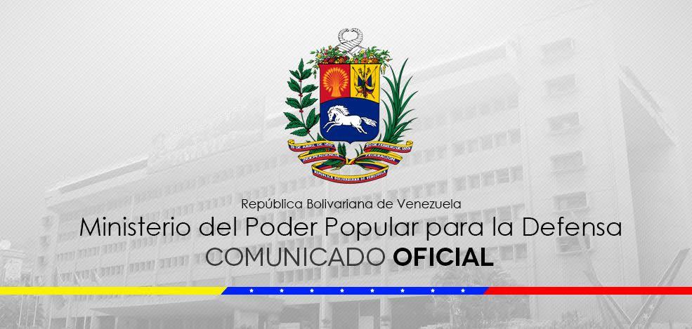 📰🗞️|| Comunicado Oficial de la Fuerza Armada Nacional Bolivariana https://bit.ly/2V9uNeg
